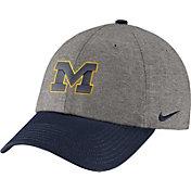 Nike Men's Michigan Wolverines Grey/Blue Heritage86 Heather Adjustable Hat