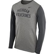Nike Men's Michigan Wolverines Grey Heavyweight Elevated Essentials Long Sleeve Shirt
