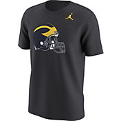 Jordan Men's Michigan Wolverines Anthracite Alt Logo Football T-Shirt