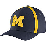Jordan Men's Michigan Wolverines Blue AeroBill Football Sideline Coaches Classic99 Hat