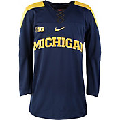 Nike Men's Michigan Wolverines Blue Replica Hockey Jersey