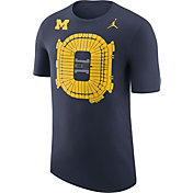 Jordan Men's Michigan Wolverines Blue Local Imagery Football Stadium T-Shirt