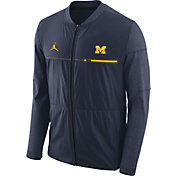 Jordan Men's Michigan Wolverines Blue Elite Hybrid Football Full-Zip Jacket