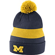 Jordan Men's Michigan Wolverines Blue Football Sideline Beanie