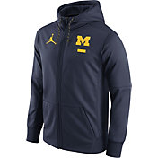 Jordan Men's Michigan Wolverines Blue Therma-FIT Full-Zip Football Hoodie