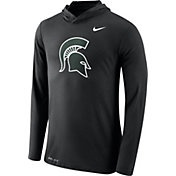 Nike Men's Michigan State Spartans Black Dri-Blend Hoodie Long Sleeve Shirt