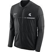 Nike Men's Michigan State Spartans Elite Hybrid Football Black Full-Zip Jacket