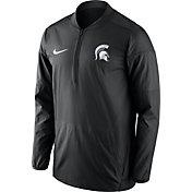 Nike Men's Michigan State Spartans Lockdown Sideline Black Half-Zip Jacket