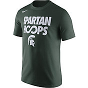 Nike Men's Michigan State Spartans Green 'Spartan Hoops' Basketball T-Shirt
