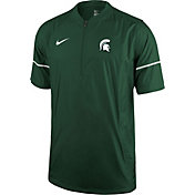 Nike Men's Michigan State Spartans Green Football Sideline Hot Jacket
