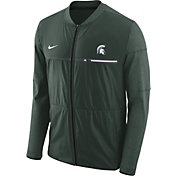 Nike Men's Michigan State Spartans Green Elite Hybrid Football Full-Zip Jacket