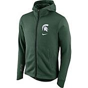 Nike Men's Michigan State Spartans Green Therma-FIT Full-Zip Elite Basketball Hoodie