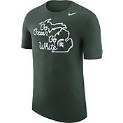 Nike Men's Michigan State Spartans Green 'Go Green, Go White' Local Elements T-Shirt