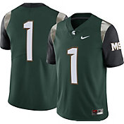 Nike Men's Michigan State Spartans #1 Green Limited Football Jersey
