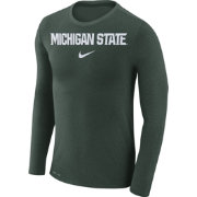 Nike Men's Michigan State Spartans Green Marled Dri-FIT Long Sleeve Shirt