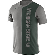 Nike Men's Michigan State Spartans Grey/Green Coin Flip T-Shirt