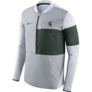 Nike Men's Michigan State Spartans Grey/Green Shield Hybrid Football Sideline Jacket