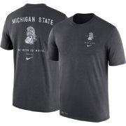 Nike Men's Michigan State Spartans Anthracite Dri-Blend Vault Logo T-Shirt