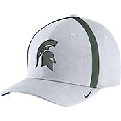 Nike Men's Michigan State Spartans White AeroBill Football Sideline Coaches Classic99 Hat