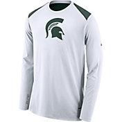 Nike Men's Michigan State Spartans Elite Shooter White Long Sleeve Shirt