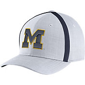 Jordan Men's Michigan Wolverines White AeroBill Football Sideline Coaches Classic99 Hat