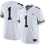 Jordan Men's Michigan Wolverines #1 White Limited Football Jersey