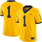 Jordan Men's Michigan Wolverines #1 Maize Limited Football Jersey