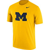 Nike Men's Michigan Wolverines Maize Logo Dry Legend T-Shirt