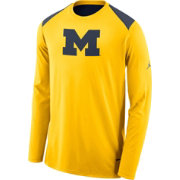 Nike Men's Michigan Wolverines Maize Elite Shooter Long Sleeve Shirt