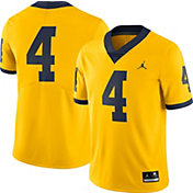 Jordan Men's Michigan Wolverines #4 Maize Limited Football Jersey