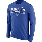 Nike Men's Memphis Tigers Blue Football Sideline Staff Legend Long Sleeve Shirt