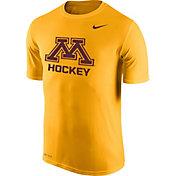 Nike Men's Minnesota Golden Gophers Gold Hockey Legend T-Shirt