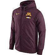 Nike Men's Minnesota Golden Gophers Maroon Therma-FIT Full-Zip Football Hoodie