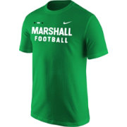 Nike Men's Marshall Thundering Herd Green Football Sideline Facility T-Shirt