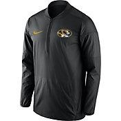 Nike Men's Missouri Tigers Lockdown Sideline Black Half-Zip Jacket