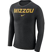Nike Men's Missouri Tigers Black Marled Dri-FIT Long Sleeve Shirt