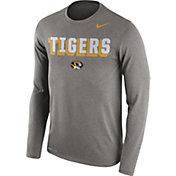 Nike Men's Missouri Tigers Grey Dri-FIT Franchise Long Sleeve T-Shirt