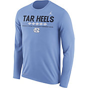 Jordan Men's North Carolina Tar Heels Carolina Blue Football Sideline Staff Legend Long Sleeve Shirt