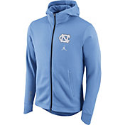 Jordan Men's North Carolina Tar Heels Carolina Blue Therma-FIT Full-Zip Elite Basketball Hoodie