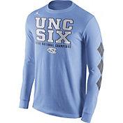Jordan Men's North Carolina Tar Heels 2017 NCAA National Champions 'UNC Six' Long Sleeve Shirt