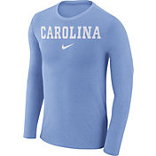 Nike Men's North Carolina Tar Heels Carolina Blue Marled Dri-FIT Long Sleeve Shirt