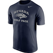 Nike Men's Nevada Wolf Pack Blue Logo Dry Legend T-Shirt