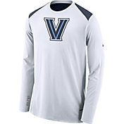 Nike Men's Villanova Wildcats Elite Shooter White Long Sleeve Shirt