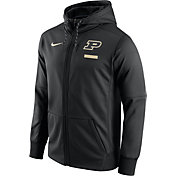 Nike Men's Purdue Boilermakers Black Therma-FIT Full-Zip Football Hoodie