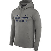 Nike Men's Penn State Nittany Lions Grey Football Sideline Therma-FIT Hoodie