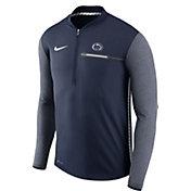 Nike Men's Penn State Nittany Lions Blue Coach Half-Zip Football Sideline Jacket