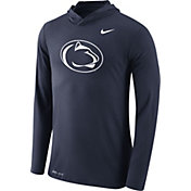 Nike Men's Penn State Nittany Lions Blue Dri-Blend Hoodie Long Sleeve Shirt