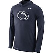 Nike Men's Penn State Nittany Lions Blue Dri-Blend Hoodie Long Sleeve Shirt