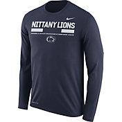 Nike Men's Penn State Nittany Lions Blue Football Sideline Staff Legend Long Sleeve Shirt
