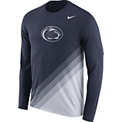 Nike Men's Penn State Nittany Lions Blue/White Football Sideline Dri-FIT Long Sleeve Shirt